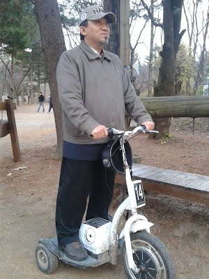 Tri cycle around Nami Island South Korea